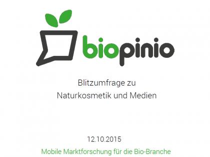 Naturkosmetik Biokosmetik Studie 2015