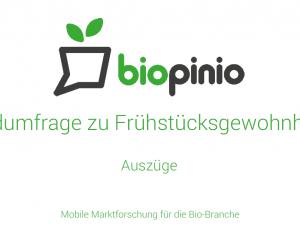 Studie Bio Frühstück 2014