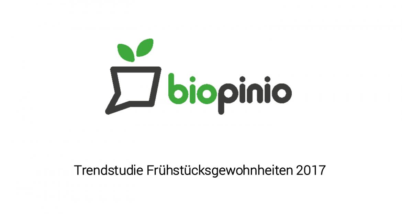 biopinio trendstudie fruestueck gewohnheit mobil marktforschung