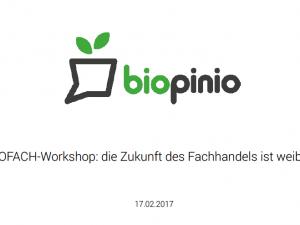 BIOFACH-Impulsvortrag zur Zukunft des Bio-Fachhandels