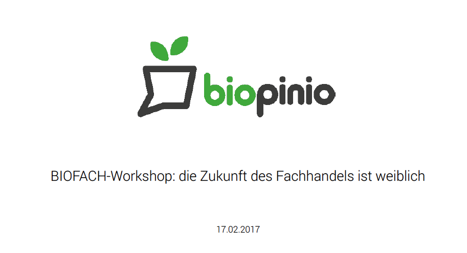biopinio Bio pollion biofach Workshop