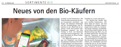 biopinio Bio pollion sortimente bio Lebensmittelzeitschrift
