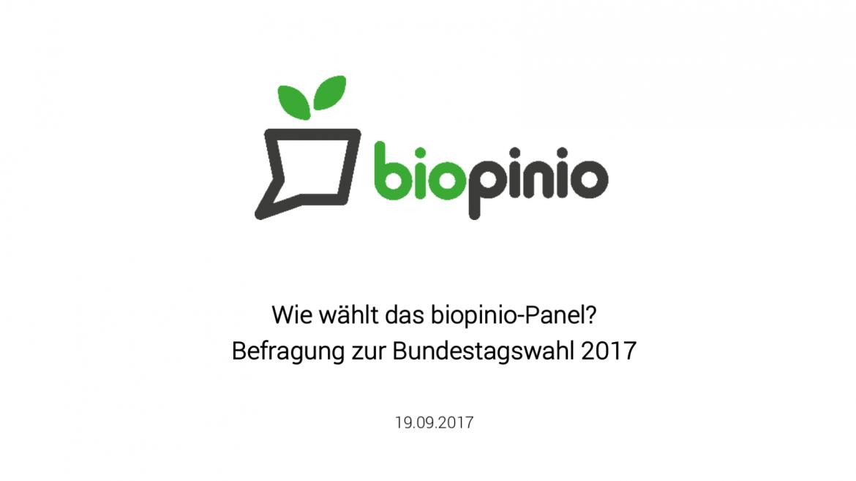biopinio bundestagswahl 2017 bio wahl
