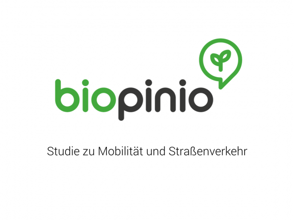 biopinio-Studie zu Mobilität und Straßenverkehr